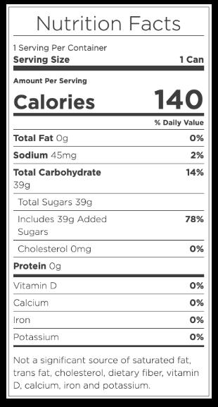 hop soda nutrition