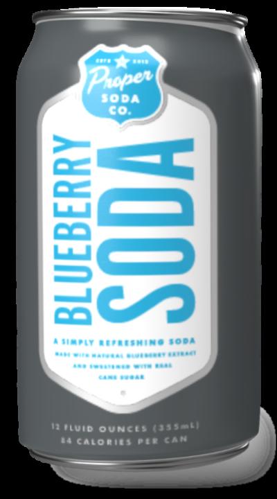 Proper soda - blueberry