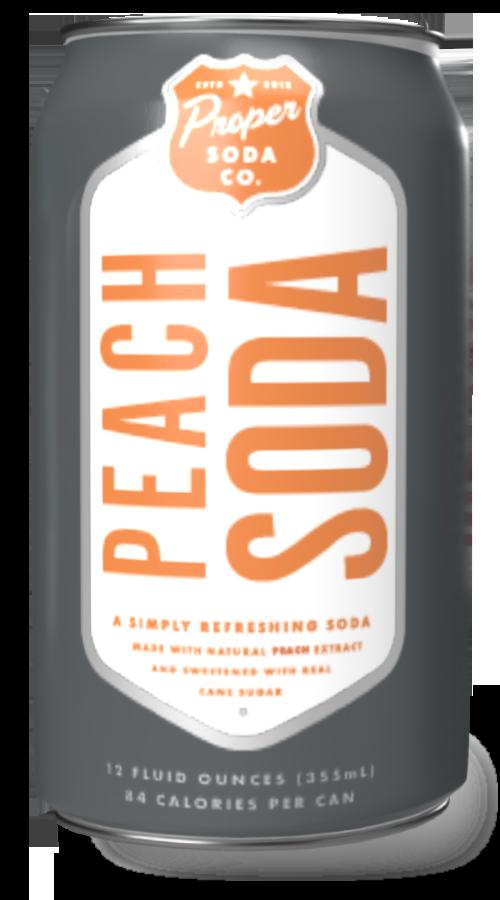 Proper soda - peach